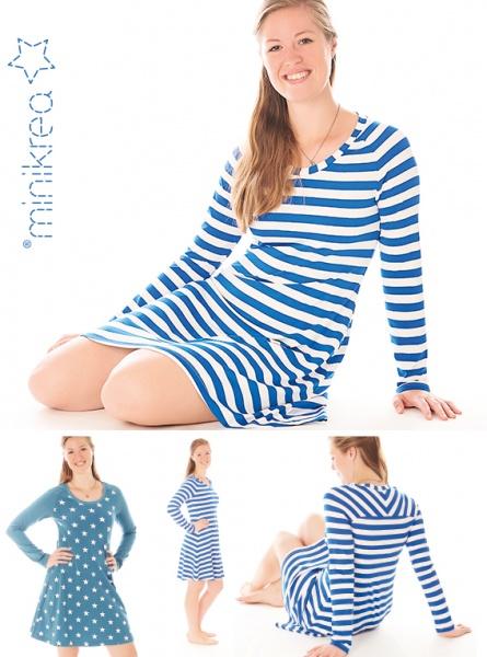 dc3f3695 Minikrea Raglan jersey kjole str 34-50 - papirmønster - Kreativshop.no